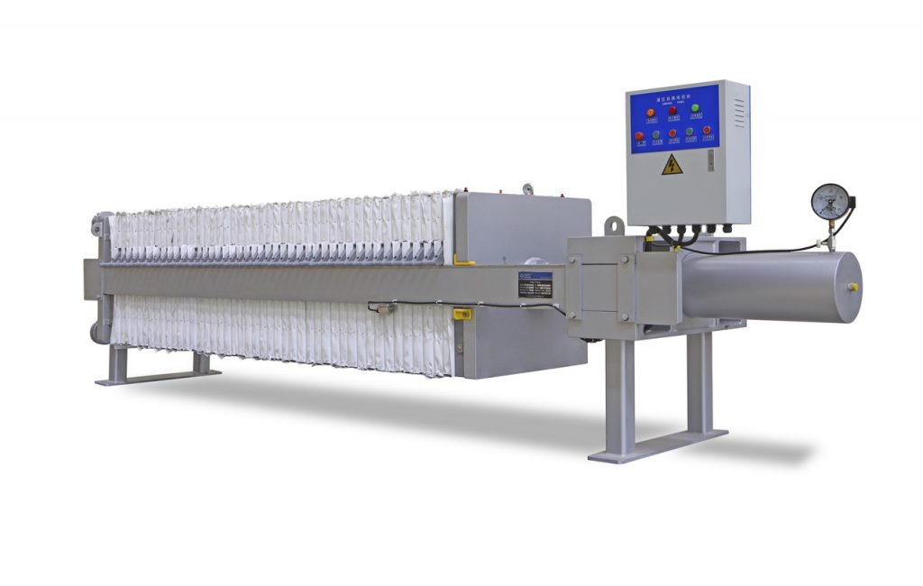 Chamber filter presses with side suspension filter plates 500x500 mm